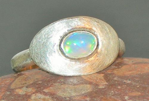 Welo-Opal (Äthiopien) Silberring
