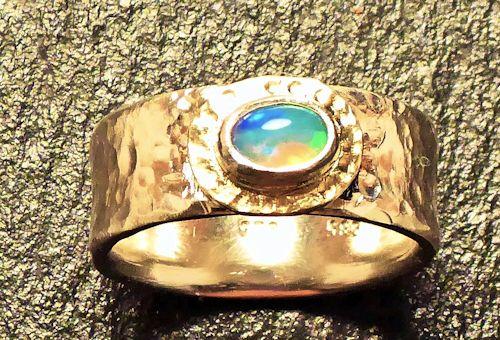 Welo - Opal Silber/Gelbgold Bandring