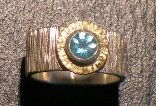 Apatit - Bandring, Silber/Gelbgold