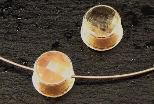 Rosenquarz, Bergkristall Silberanhänger (Gleiter)