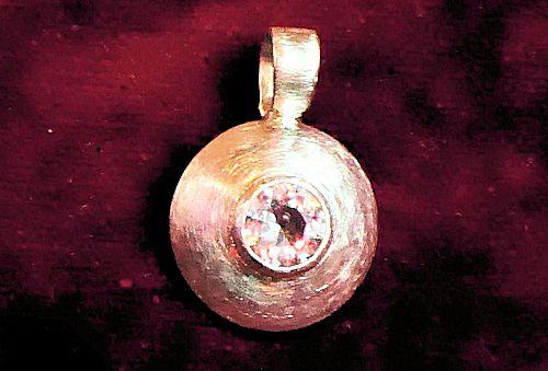 Bergkristall Silberanhänger
