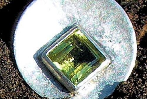 Ouroverde Quarz Silberanhänger