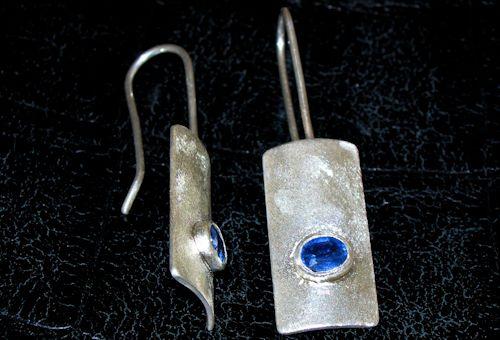 Kyanit / Disthen Silberohrringe